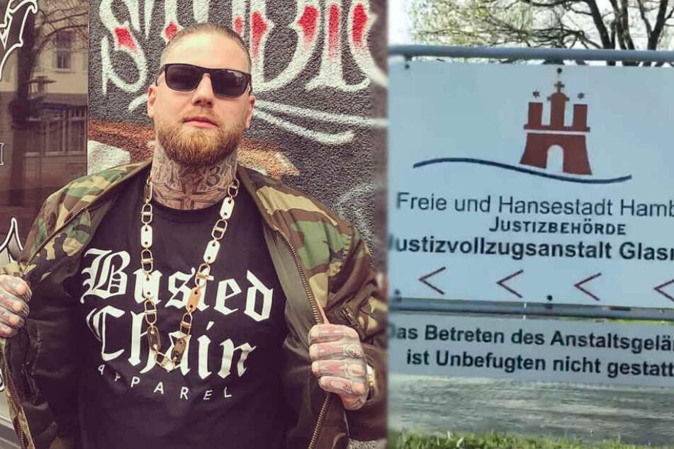 187-Strassenbande-Mitglied Marten verbüßte in der JVA Glasmoor eine Haftstrafe.