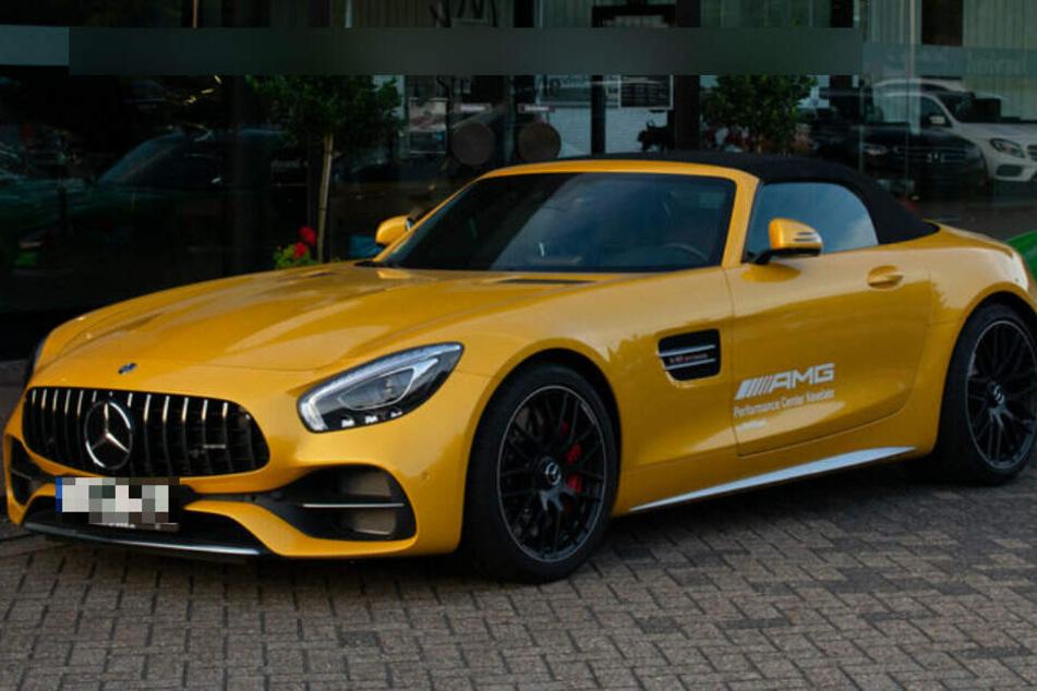 Ein gelber Mercedes AMG wurde innerhalb von zwei Wochen zweimal gestohlen. (Symbolbild)