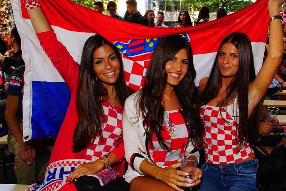 In Stuttgart ließen die kroatischen Fans ihrem Jubel über den Finaleinzug bei WM freien Lauf.