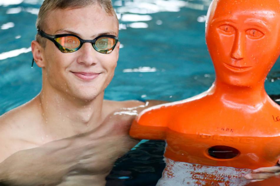 der 17-jährige Marten Pätzold wird bei den Deutschen Meisterschaften im Rettungssport antreten, die am Wochenende in Leipzig stattfinden.