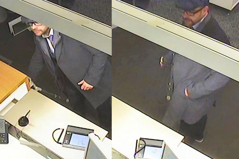Vor die Bankangestellte (46) trat ein gepflegt gekleideter Mann, der auffällig am Krückstock lief.