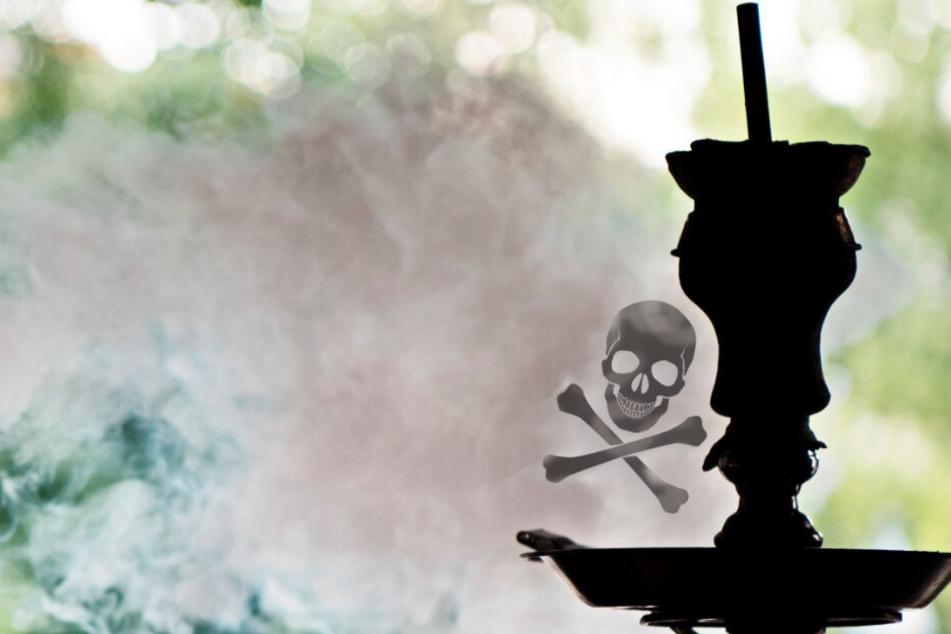 Rauch steigt aus einer Wasserpfeife: Immer wieder kommt es in Shisha-Bars zu Vergiftungen.