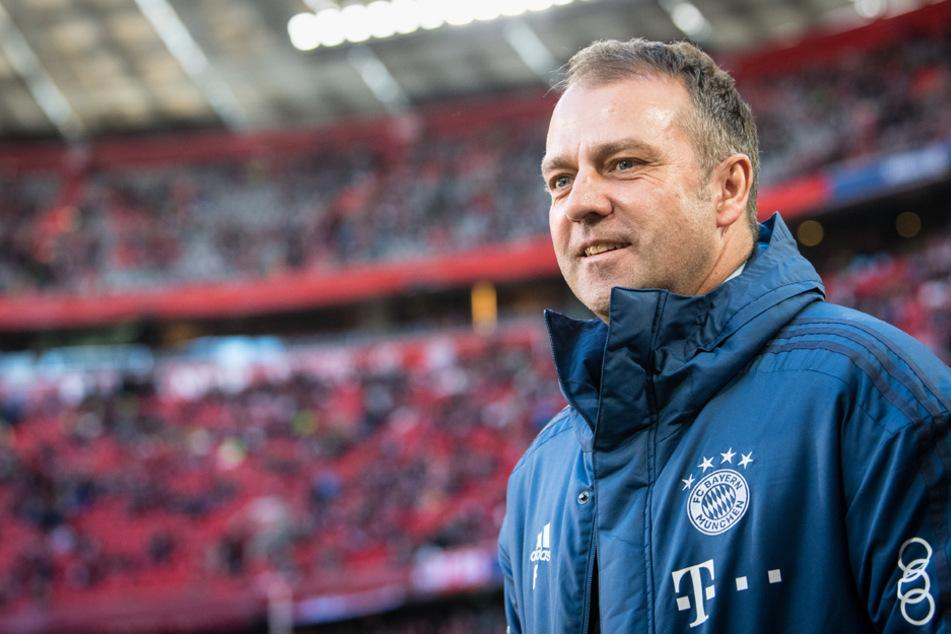 Hansi Flick glaubt weiterhin an Lewandowskis Rekord-Saison. (Archiv)
