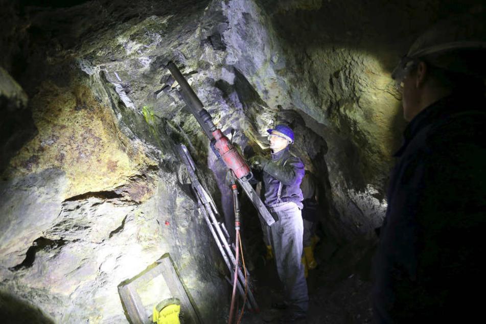 In Sachsen wird Bergbau-Nachwuchs gesucht: Seit der Wiedervereinigung ist die Zahl der Bergleute im Freistaat massiv zurückgegangen.