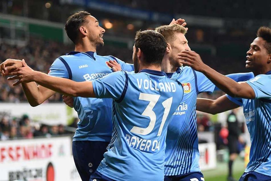 Sechs Mal hatten die Leverkusener Grund zum Jubeln.