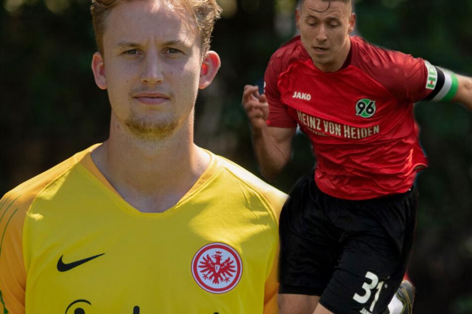 Fotomontage: Frederik Rönnow (Li.) stünde als Eintracht-Keeper in den Startlöchern, Waldemar Anton soll als möglicher Hinteregger-Ersatz verpflichtet werden.