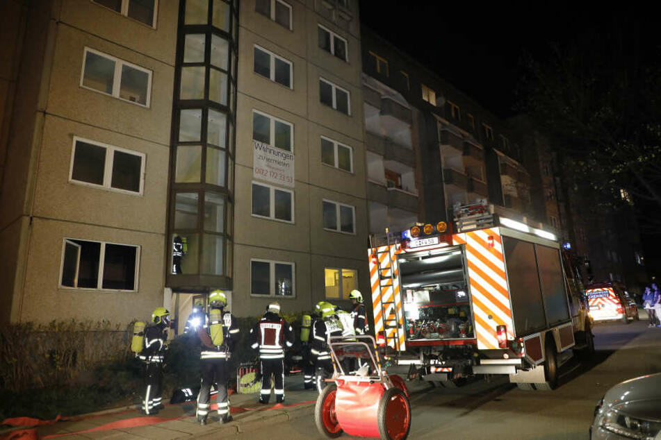 Brandstiftung? Wohnungsbrand in Chemnitz
