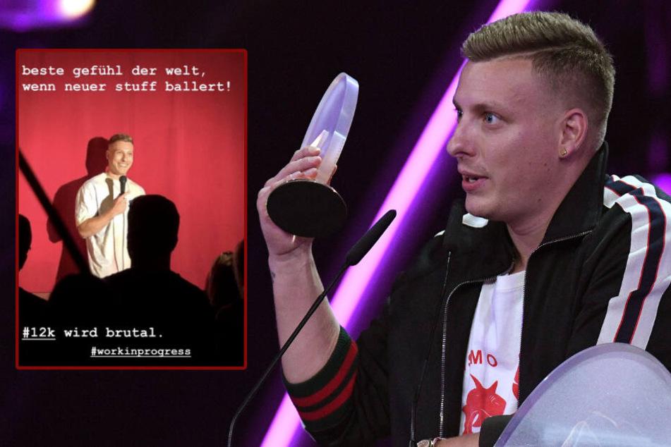 """Felix Lobrecht gewann den Deutschen Comedy Preis 2018 in der Kategorie """"Bester Newcomer"""". (Bildmontage)"""