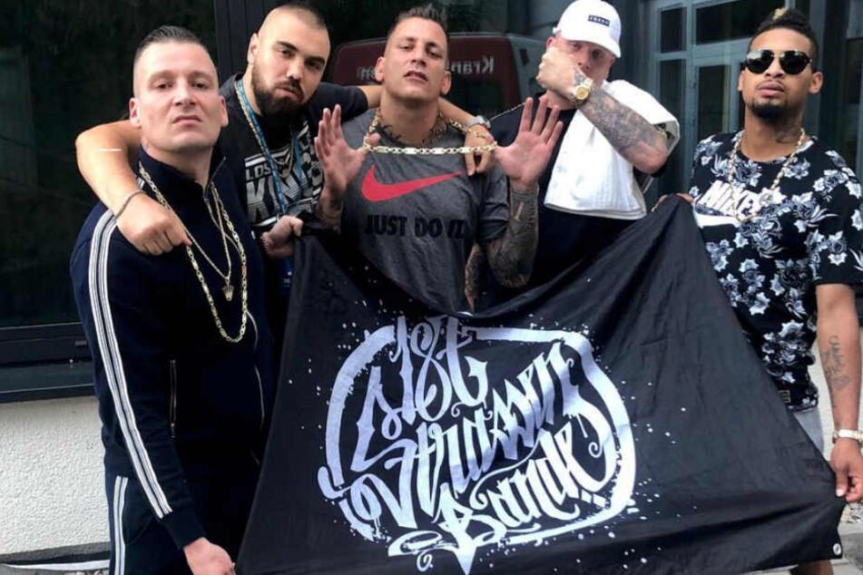 Die 187-Crew: LX, Sa4, Gzuz, Bonez MC und Maxwell (v.l.n.r.).