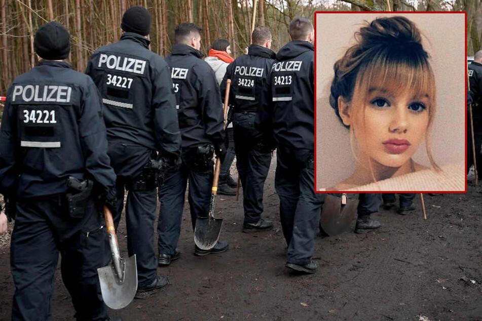 Die Polizei, ausgestattet mit Spaten, suchte bis in den späten Abend nach Rebecca.