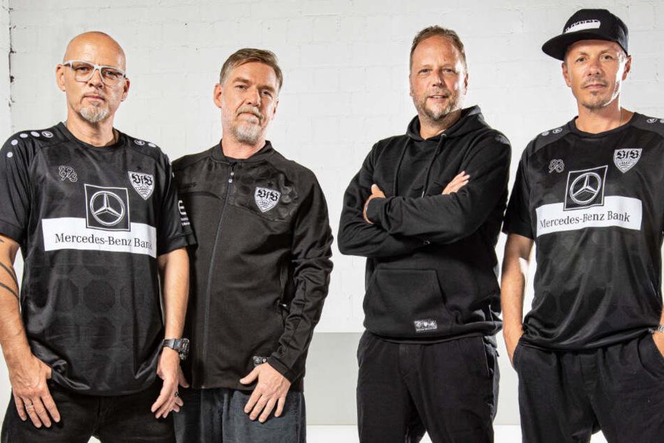 Die Fantastischen Vier haben das Ausweichtrikot des VfB Stuttgart entworfen.