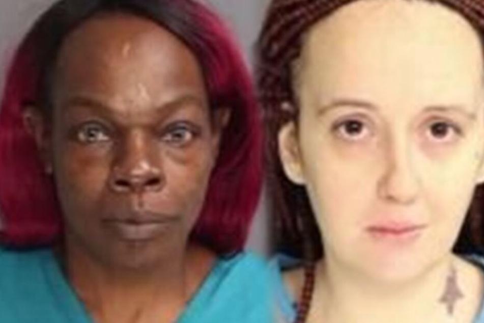 Natacha Smith (44, li.), die Mutter des misshandelten Kindes und Patricia Buchan (29), die das Kind mit kochendem Wasser übergossen hat.