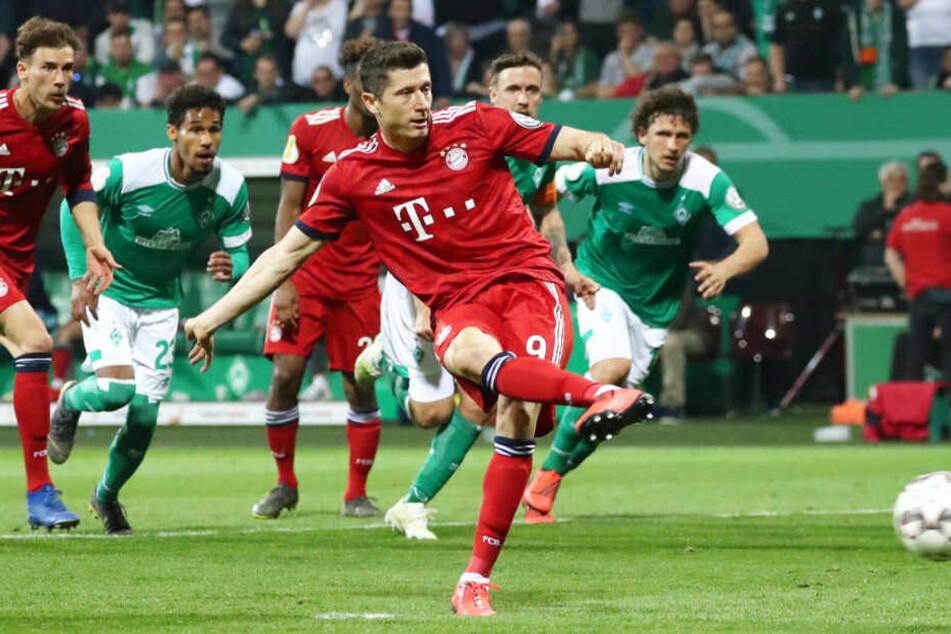 Robert Lewandowski erzielte den entscheidenden Treffer für den FC Bayern München.