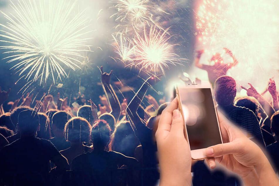 Silvester verschickten die Sachsen neue Rekordmengen an digitalen Neujahrsgrüßen.
