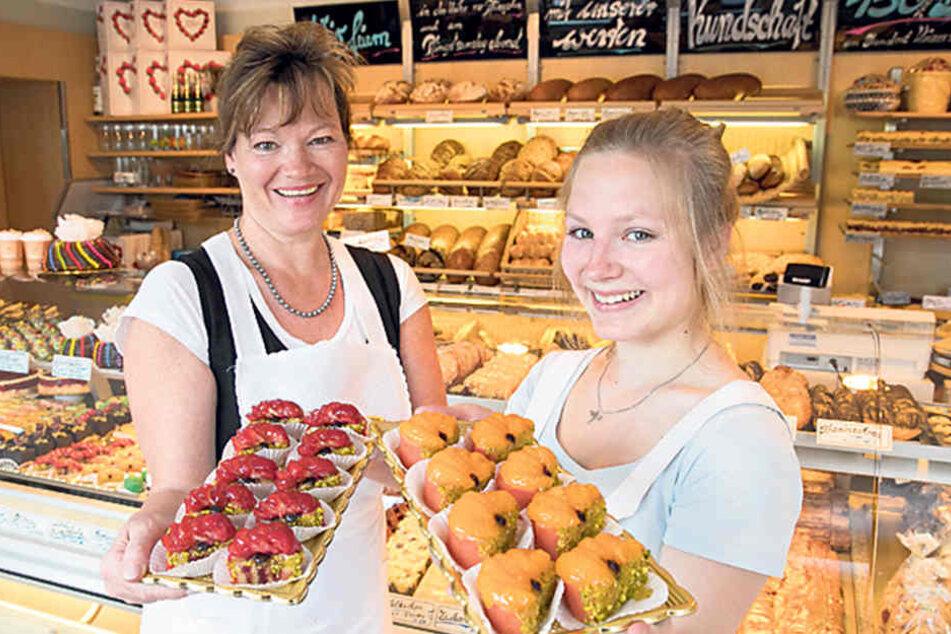 Auch Katrin (50) und Lina Trepte  (17) arbeiten in dem Familienbetrieb.