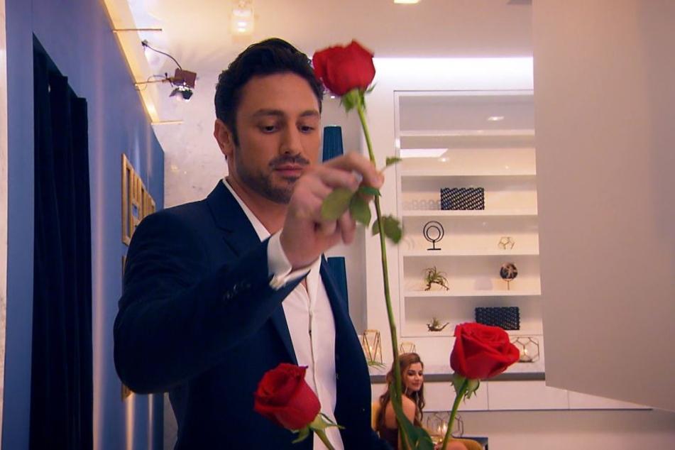 Bachelor Daniel Völz (32) verteilt wieder Rosen.