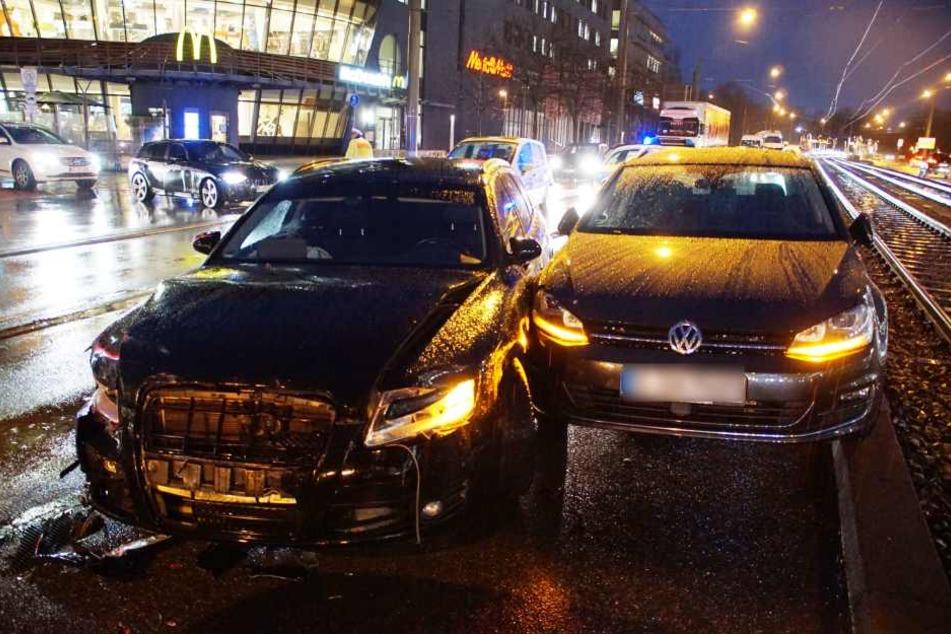 Ein Unfall in der Heilbronner-Straße mit 7 Verletzten, deren Folge ein langer Stau war. Bei dieser Unfallkette wurde jedoch zum Glück niemand verletzt. (Archivbild)