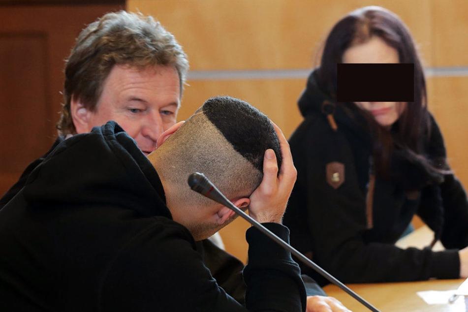 Hicham B. (24) und Tina S. (30) sind wegen Totschlags angeklagt.