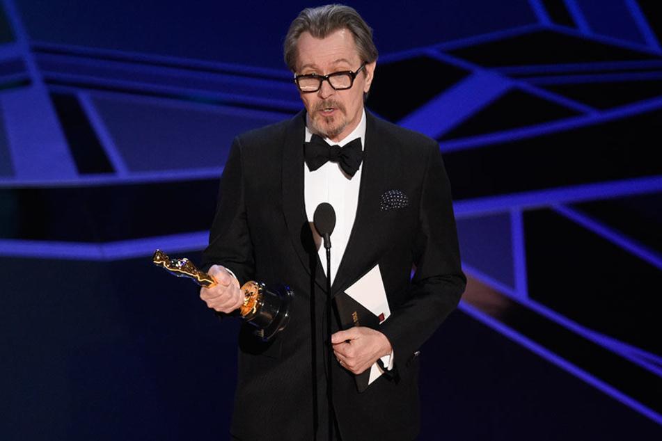 """Gary Oldman (59) wurde für seine Performance in """"Darkest Hour"""" (mit dem Oscar als bester Hauptdarsteller ausgezeichnet."""