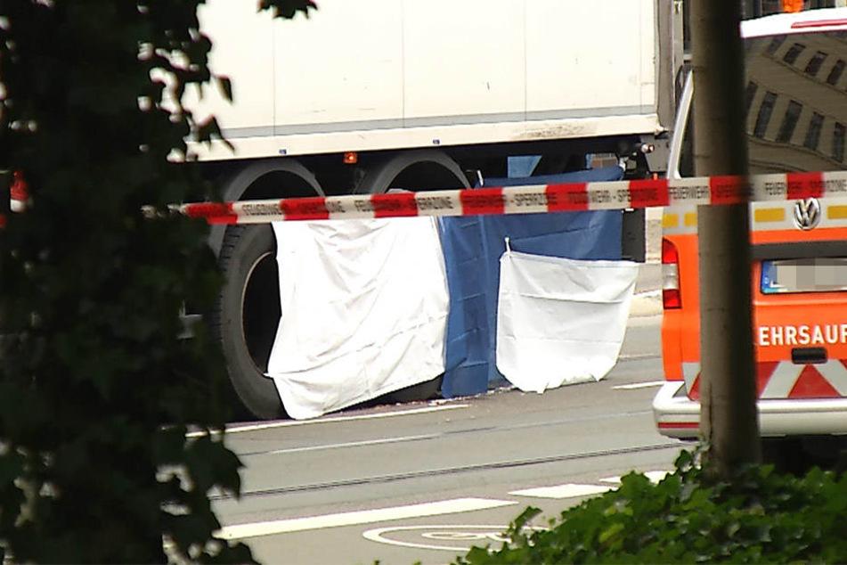 Horror-Unfall: Frau wird von Lkw überrollt