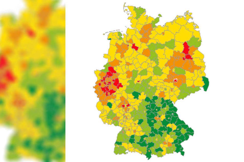 Während es im restlichen Osten recht friedlich zugeht, herrscht in Leipzig hohes Streitpotential.