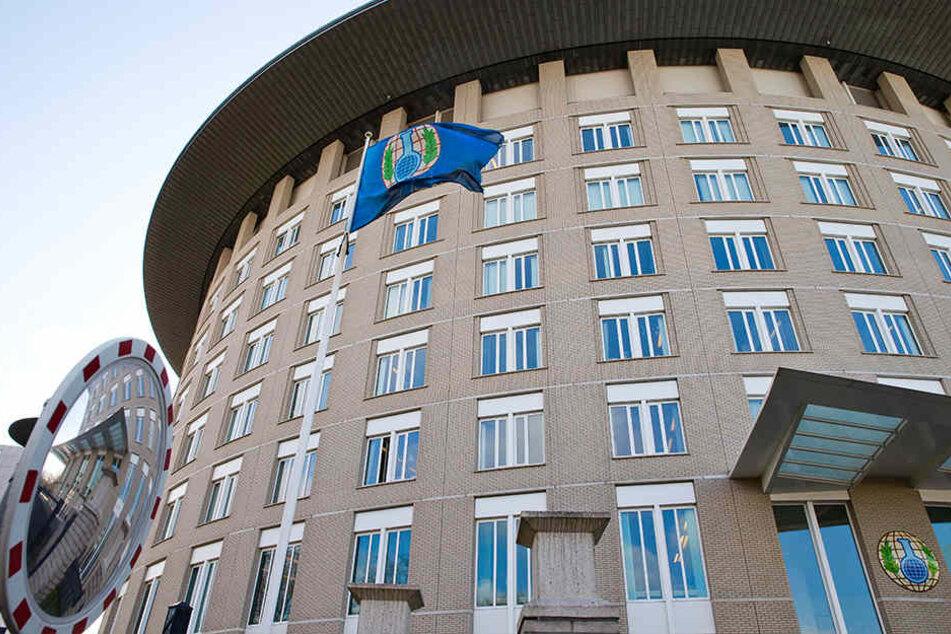 Das OPCW Hauptgebäude in Den Haag. Im Konflikt um die Nervengift-Attacke auf den früheren Doppelagenten Skripal ist hier der Exekutivrat OPCW in Den Haag zusammengekommen.
