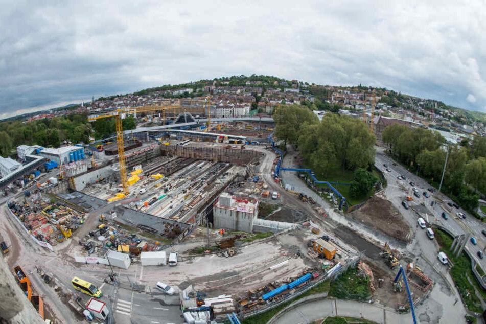 S21 und kein Ende: Noch immer ist das Bahnprojekt eine Großbaustelle. (Archivbild)