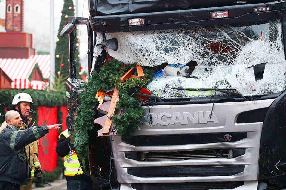 Mit diesem Lastwagen tötete der IS-Terrorist Anis Amri mehrere Menschen auf dem Berliner Weihnachtsmarkt.