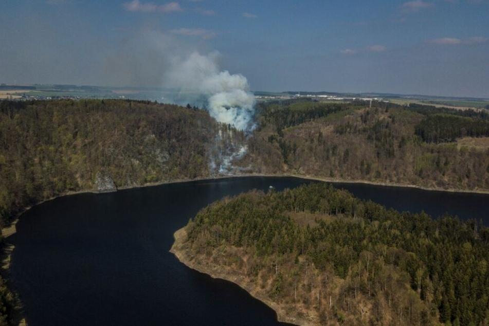 Großbrand am Bleiloch-Stausee: Landrat ruft Katastrophenfall aus