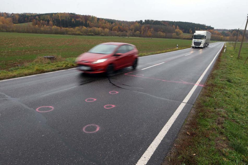 Der Unfall passierte am Montagabend auf der Hohensteiner Straße.