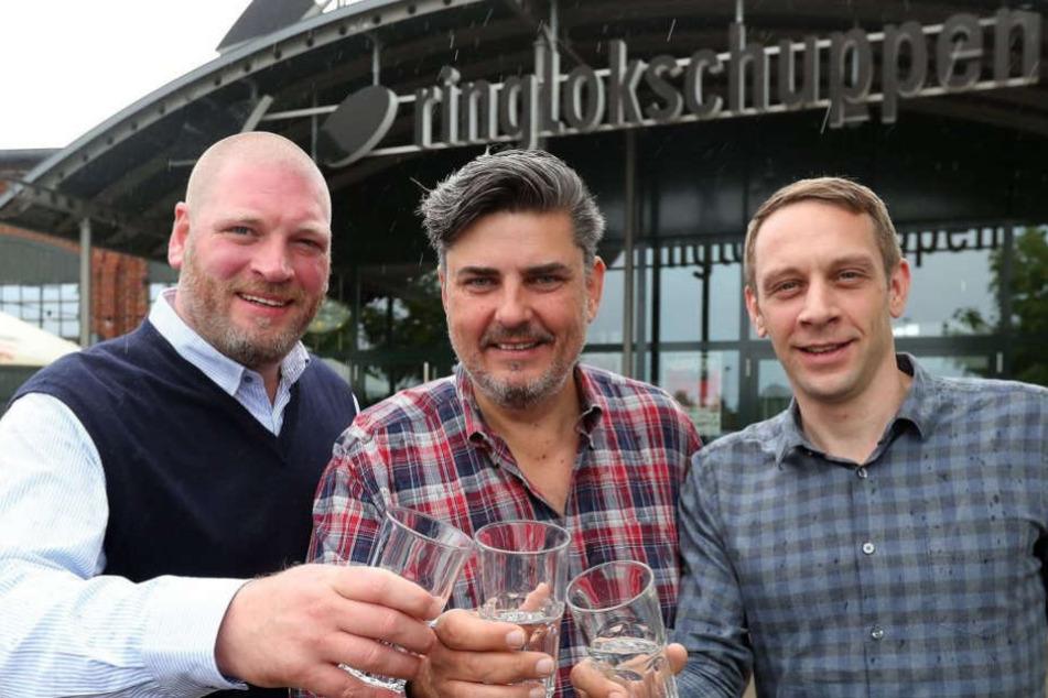 Die neuen Betreiber Marcel Lossie, Sascha Berg und Daniel Elsner fiebern der Neueröffnung entgegen.