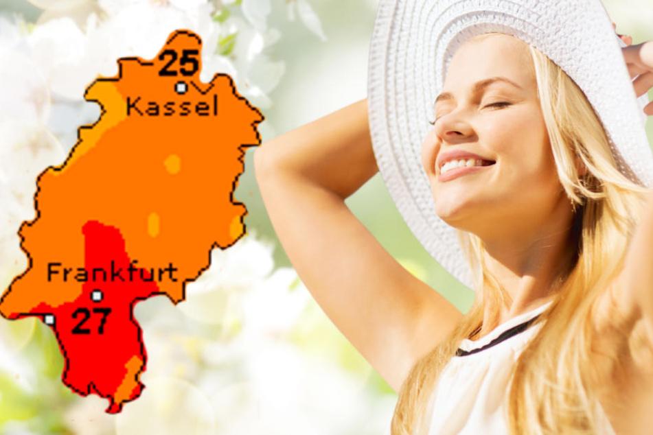 Das sommerliche Wetter versüßt den Hessen auch den Wochenstart.
