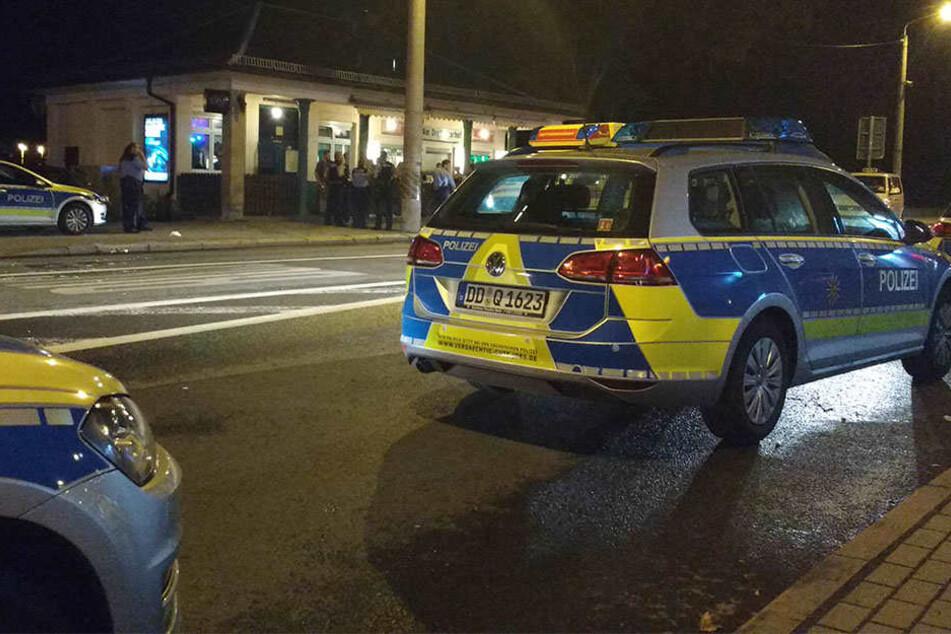 An der Tharandter Straße wurden nach einem Unfall die Rettungsmaßnahmen von einem betrunkenen behindert.