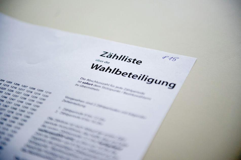 """""""Im Wahlkreis IV Borna wurden auf der Zählliste der AfD für den Kandidaten Rolf Tille 63 Stimmen notiert, aber 83 Stimmen in die Niederschrift übertragen"""", sagt Landkreis-Sprecherin Brigitte Laux. (Symbolbild)"""