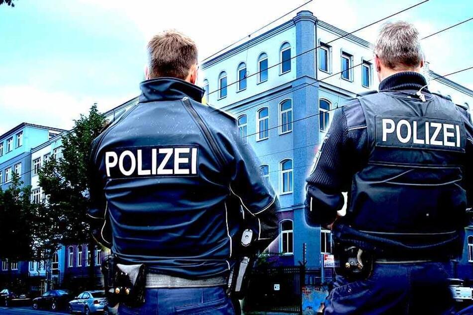 Vor dem Asylheim auf der Hamburger Straße gingen die Bewohner auf die Polizei los (Bildmontage).