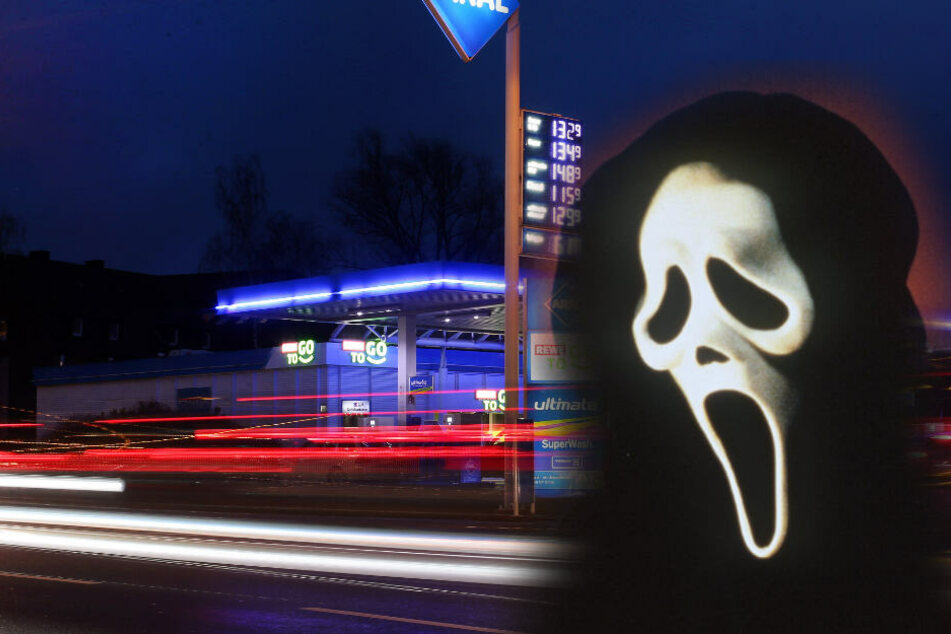 """Mann überfällt Tankstelle mit """"Scream""""-Maske und Messer"""