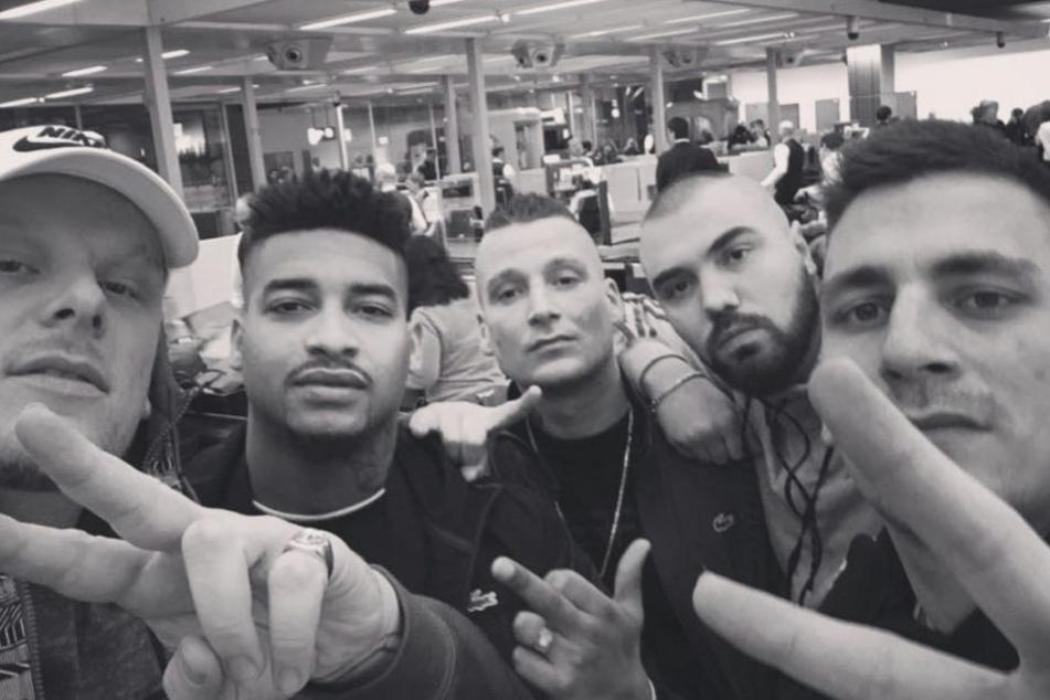 Bonez MC, Maxwell, LX, Sa4 und Gzuz (von links nach rechts).