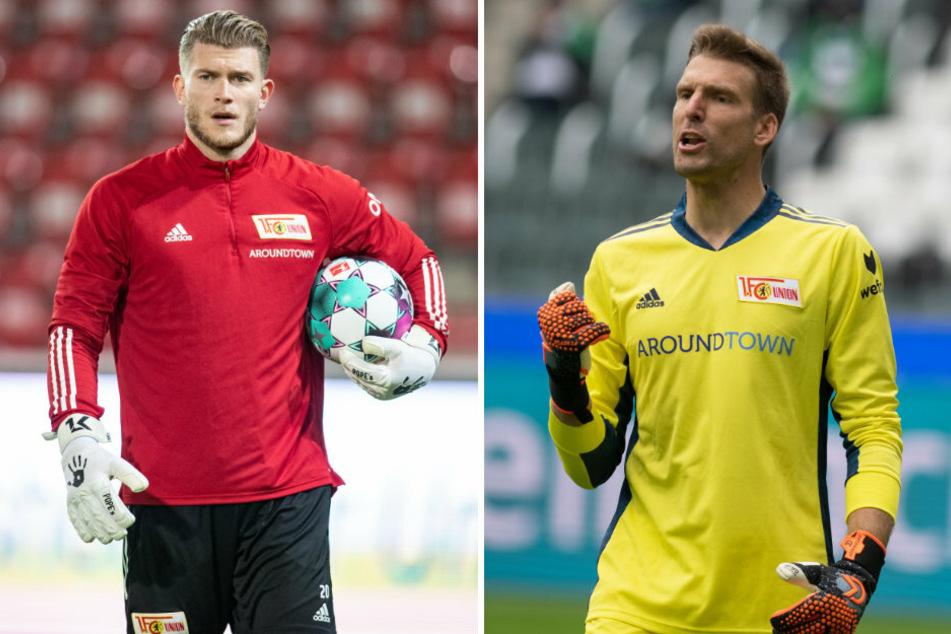 Nach dem kurzfristigen Transfer von Loris Karius (27, l.) entbrannte beim 1. FC Union Berlin ein Zweikampf um die Torwart-Position mit Andreas Luthe (33), der nun entschieden zu sein scheint.