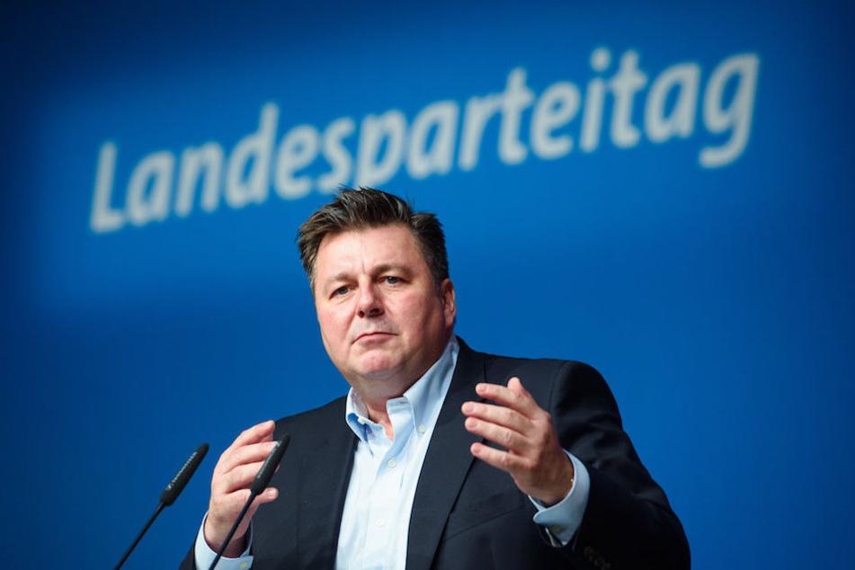 Innensenator Andreas Geisel (52) am Samstag bei Berliner SPD-Landesparteitag.