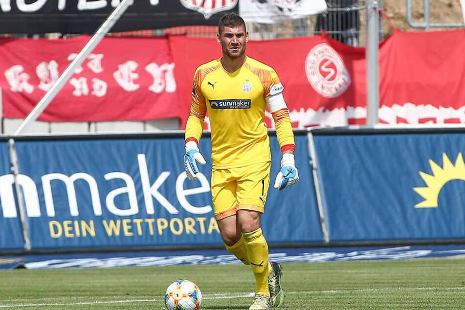 Johannes Brinkies beim Heimspiel gegen Magdeburg am Ball?