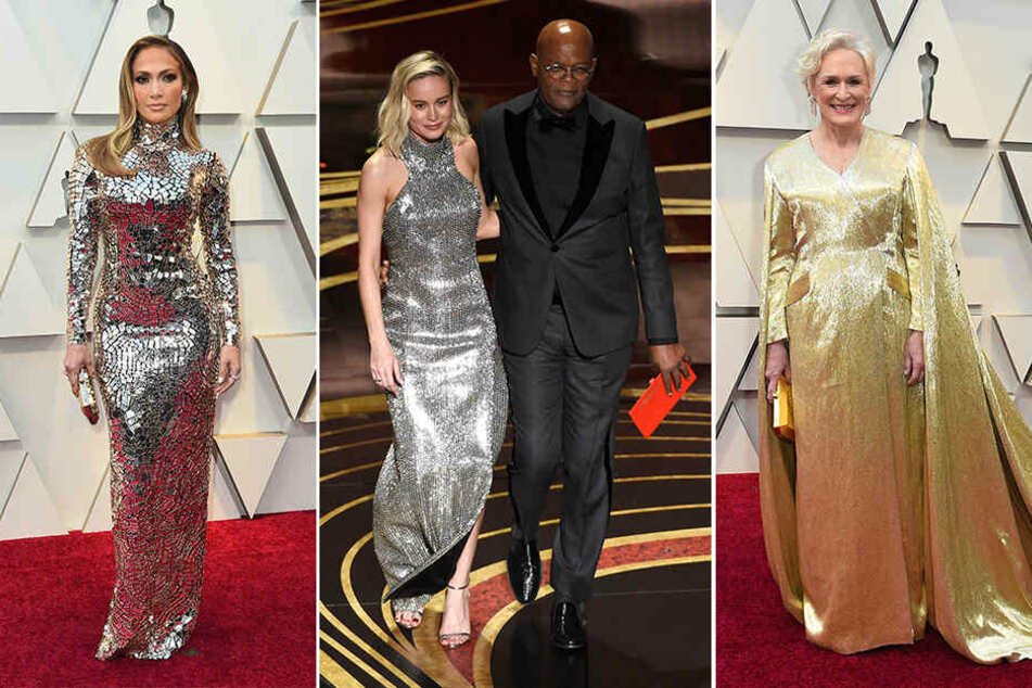 Jennifer Lopez, Brie Larson (mit Samuel Jackson) und Glenn Close ließen es glitzern und funkeln.