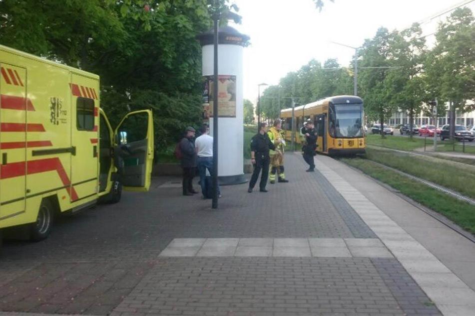 Am Carolaplatz: Fußgänger von Straßenbahn überrollt