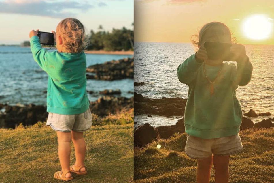 """Süß! Prominentes """"Instagram-Baby"""" schnappt sich Handy und knipst drauf los"""