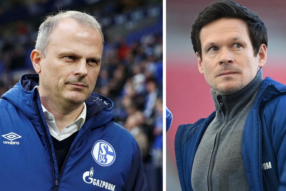 Auch Sportvorstand Jochen Schneider (50, l.) und Lizenzspieler-Koordinator Sascha Riether (37) sind raus.