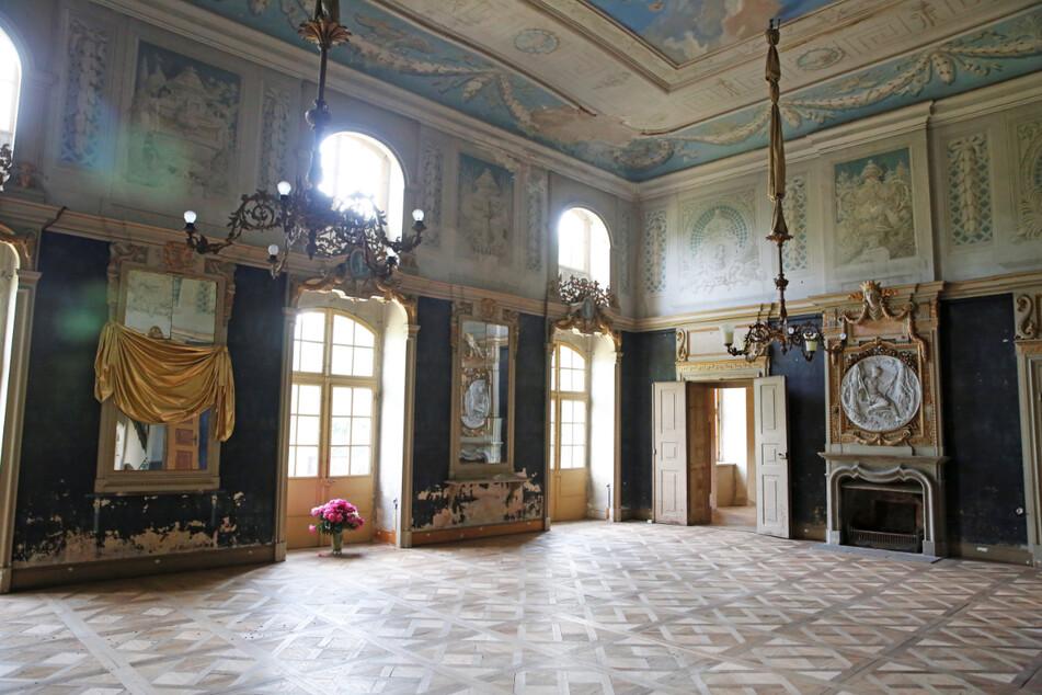 Der Saal soll erhalten und als Büro genutzt werden.