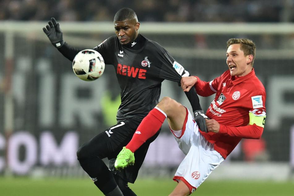 Modeste (l.) hält sich momentan in der Reserve des 1.FC Köln fit.