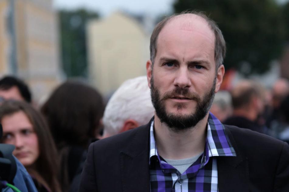 Martin Kohlmann (41, Pro Chemnitz) will die Demo vorm Nischel notfalls gerichtlich einklagen.