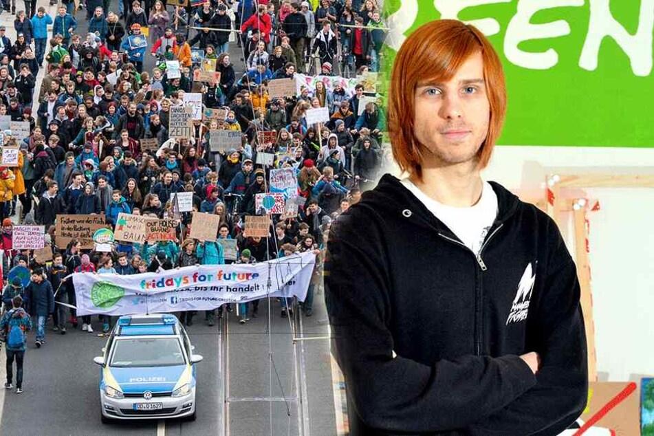 Organisator Kevin Bauch: Mit ihm demonstrieren freitags Tausende Schüler