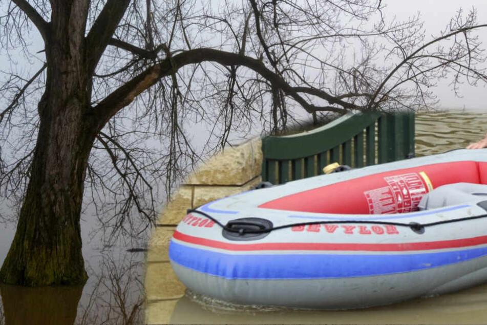 Mit einem einfachen Schlauchboot wollten die Beiden über den Fluss fahren. (Symbolbild)