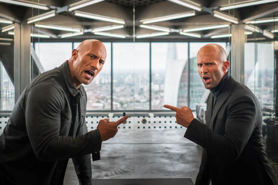 Luke Hobbs (Dwayne Johnson) und Deckard Shaw (Jason Statham)